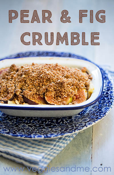 pear fig crumble