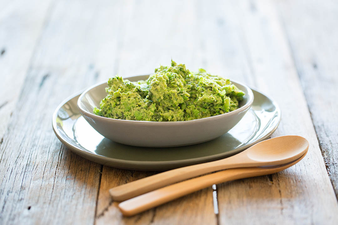 My recipe for super fast and totally delicious vegan pea pesto.