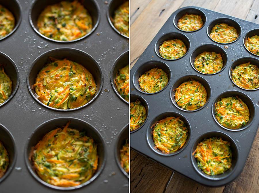 Mini Veggie Omelettes