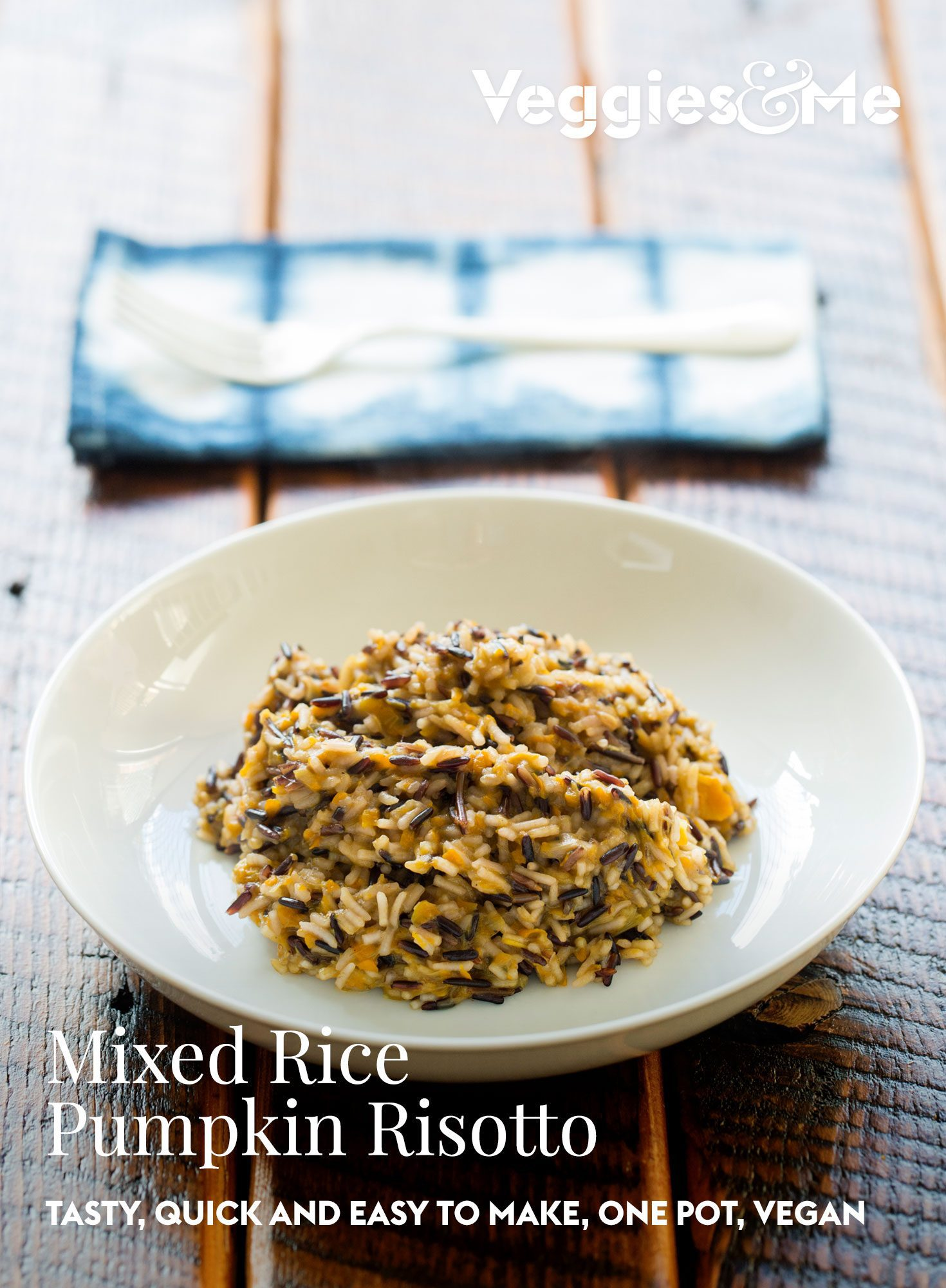 Mixed rice pumpkin risotto