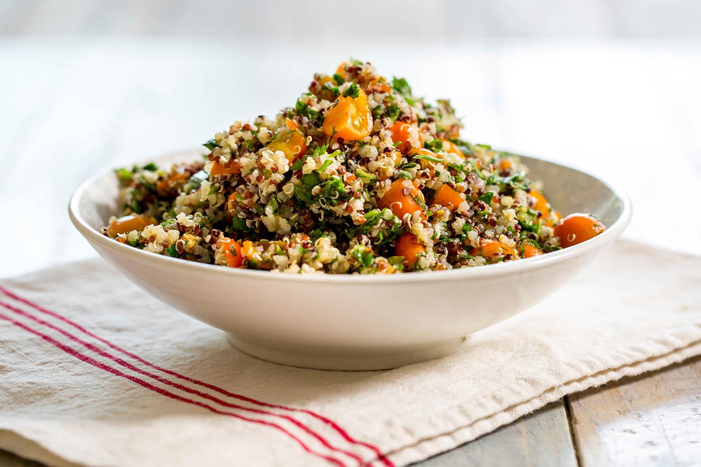 Gluten Free Quinoa Tabbouleh Salad
