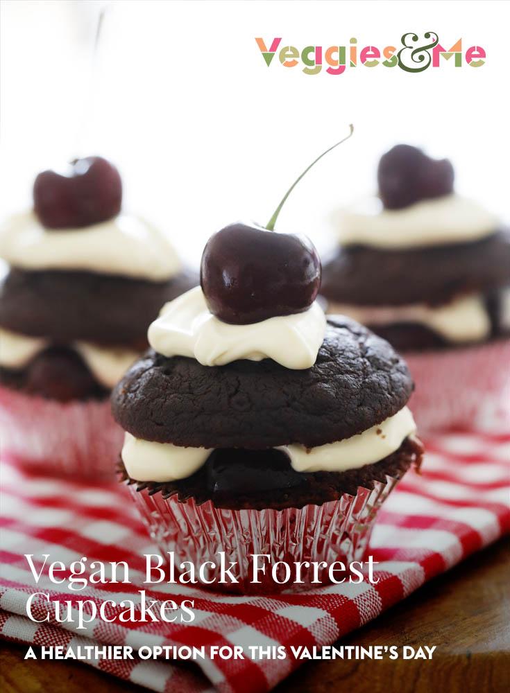 vegan black forrest cupcakes