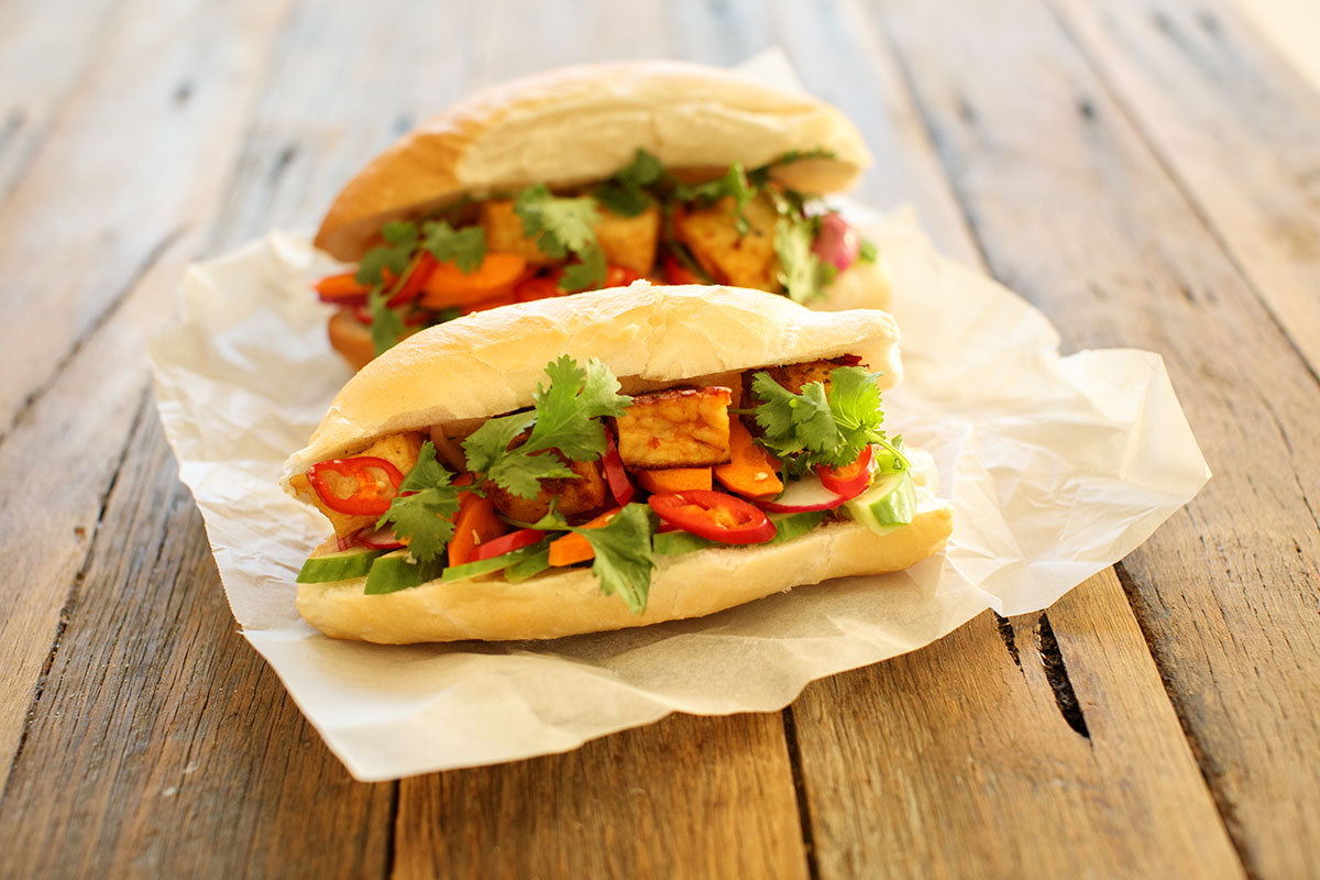 How to make Vegan Banh Mi / Vietnamese Tofu Sandwiches