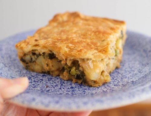 Potato and Greens Pie