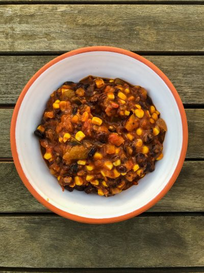Ginger and Chipotle Chilli Black Beans
