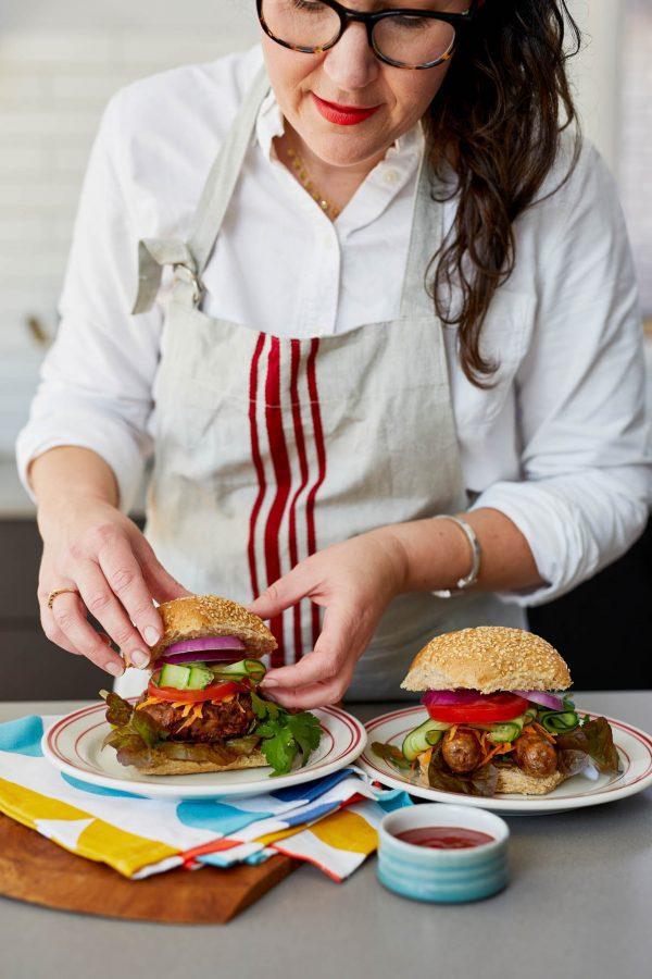 Coles veggie burger
